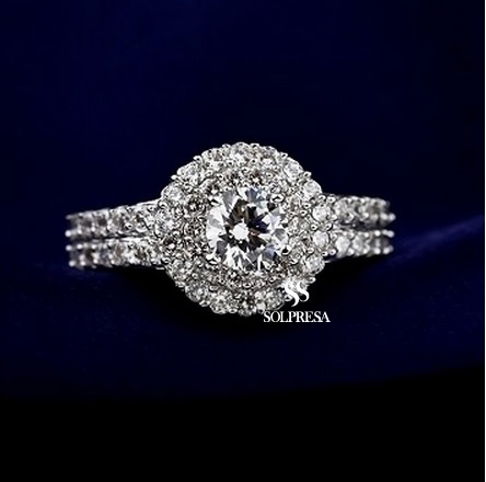 Solpresa Noble Full Zircon Diamond Ring