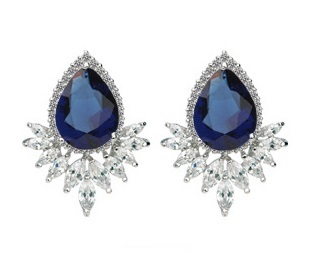 Solpresa Jade Palace Gemstone Exquisite Earrings BLUE