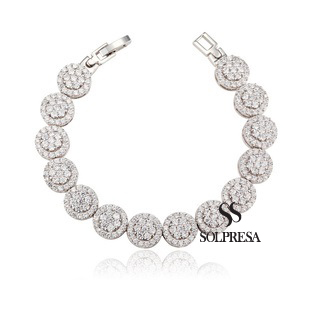 Launching Price Solpresa Zircon Inlaid Dazzling Star Diamond Bracelet