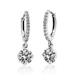 SALES Launching Price Solpresa Classic Swarovski Crystal Zircon Earrings