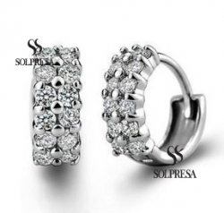 Solpresa Simple Elegant Classic Diamond Earrings