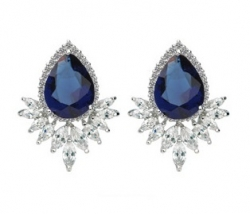 SALES Launching Price Solpresa Jade Palace Gemstone Exquisite Earrings BLUE